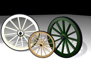 3d model of wagons wheels