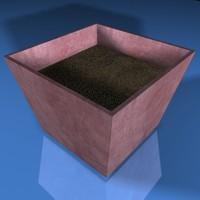 3d planter plant model