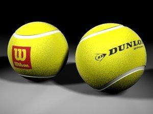 tennisballs balls 3d model
