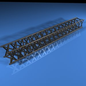 3dsmax supported quad beam frame