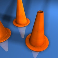 3ds max traffic cones