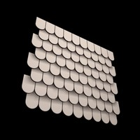 roof tiles 3d model