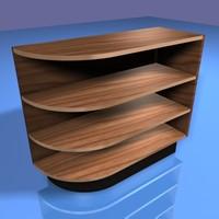 3d model corner shelving