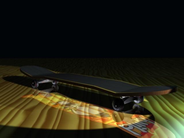 blind skateboard 3d model