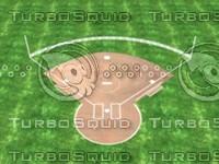 softball field 3d model