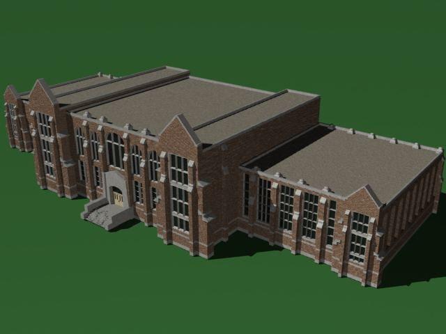 3d building university campus model