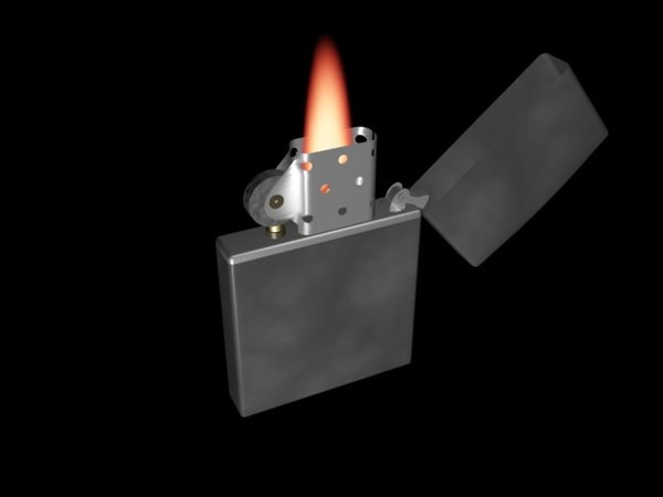 free zippo lighted 3d model