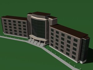 building hotel apartment 3d lwo