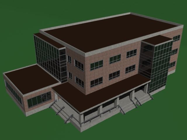 building library 3d model