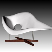 eames chaise 3d model