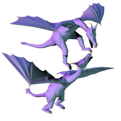 poser dragon 3d model