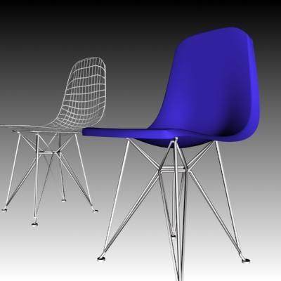 design eames wire chair 3d model