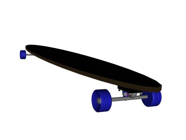 free skateboards 3d model