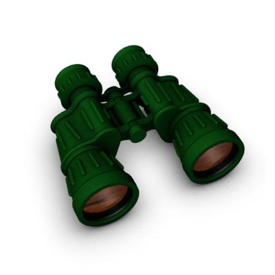 : binoculars 3d model