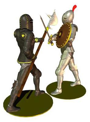 ing medieval armor male 3d model