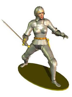 3d medieval knights armor poser weapons model