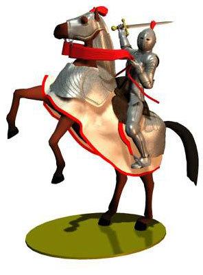 ing medieval armor horse 3d model
