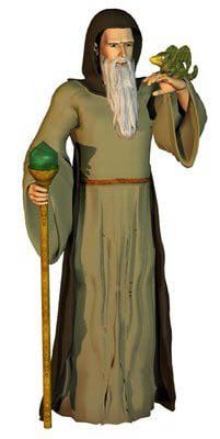 conforming hooded robe poser 3d model