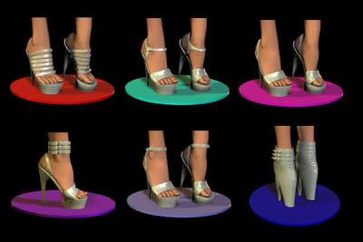 shoes poser 3d model