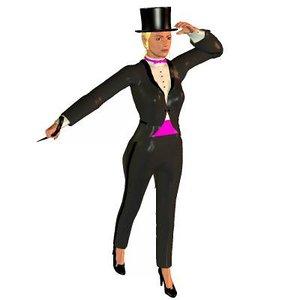 tuxedo posette 3d model