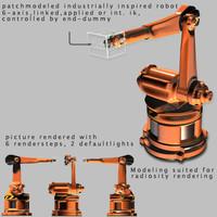 industrially robot 3d model