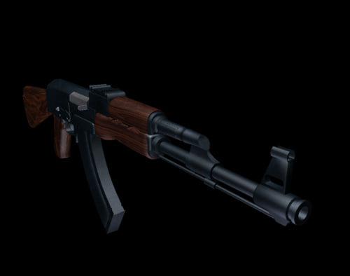 russian ak-47 rifle 3d lwo