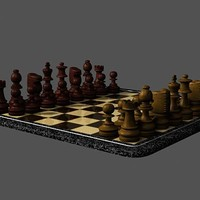 chess board 3d model