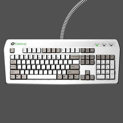 computer keyboard 3d 3ds