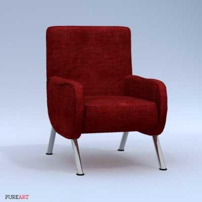 lad-a armchair arm chair 3d max