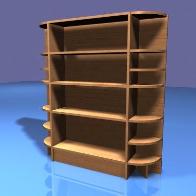 3d book shelf