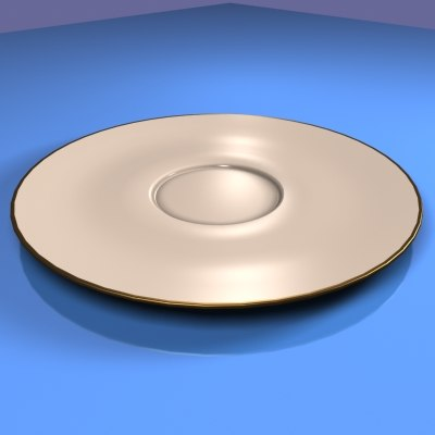 3d dishes plate model