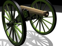 3d model napolean howitzer civil
