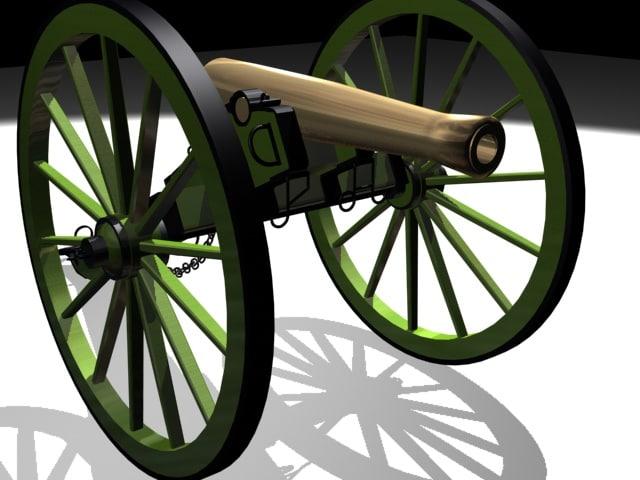 3d model napolean howitzer civil