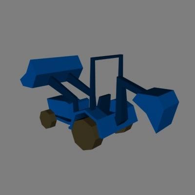 3d model tractor