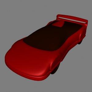 3d sportscar model