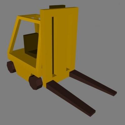 vehicle lift industrial 3d model