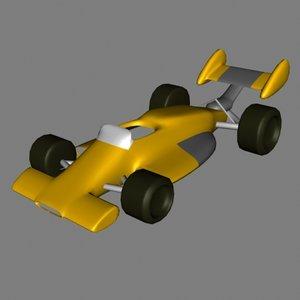 car indycar 3d dxf