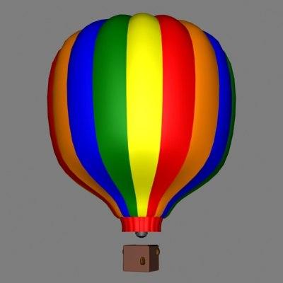 ballon hotair 3d model