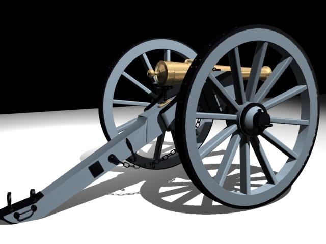 9lb napoleonic 3d model
