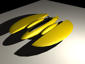 3d sub minisub model