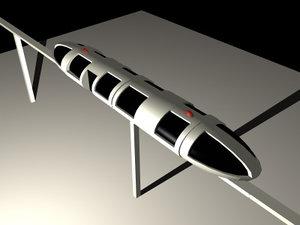 3d model monorail tracks