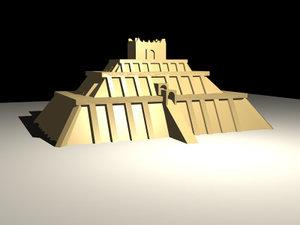 ziggurat pyramid mesopotamia 3d model