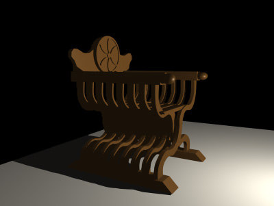 savronola chair 3d model
