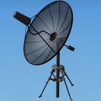 3d satellite dish