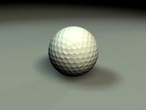 3d golfball simple