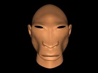 alien head 3d max