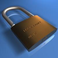 padlock lock pad 3d x