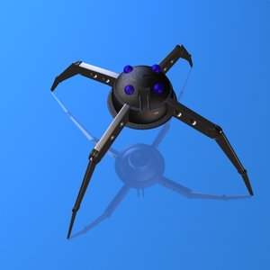 3d spider probe robotic model