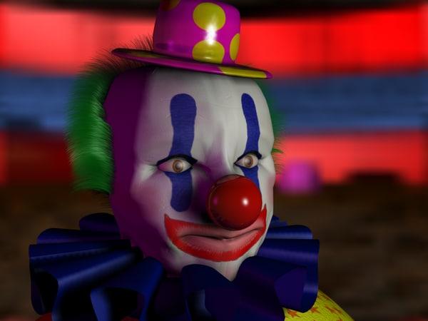3d clown head