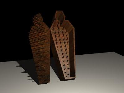 3d medieval iron model